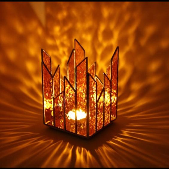 amber glass light