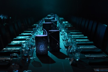 Tron themed table scape