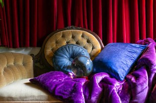 Styling shoot on the vintage sofa from Muses of Myster