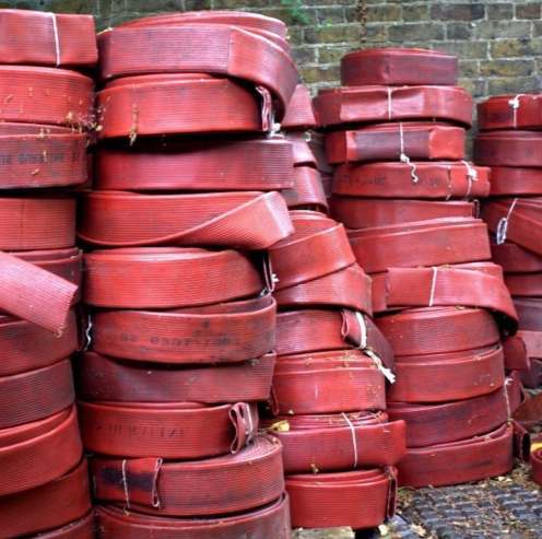 Disused fire hoses